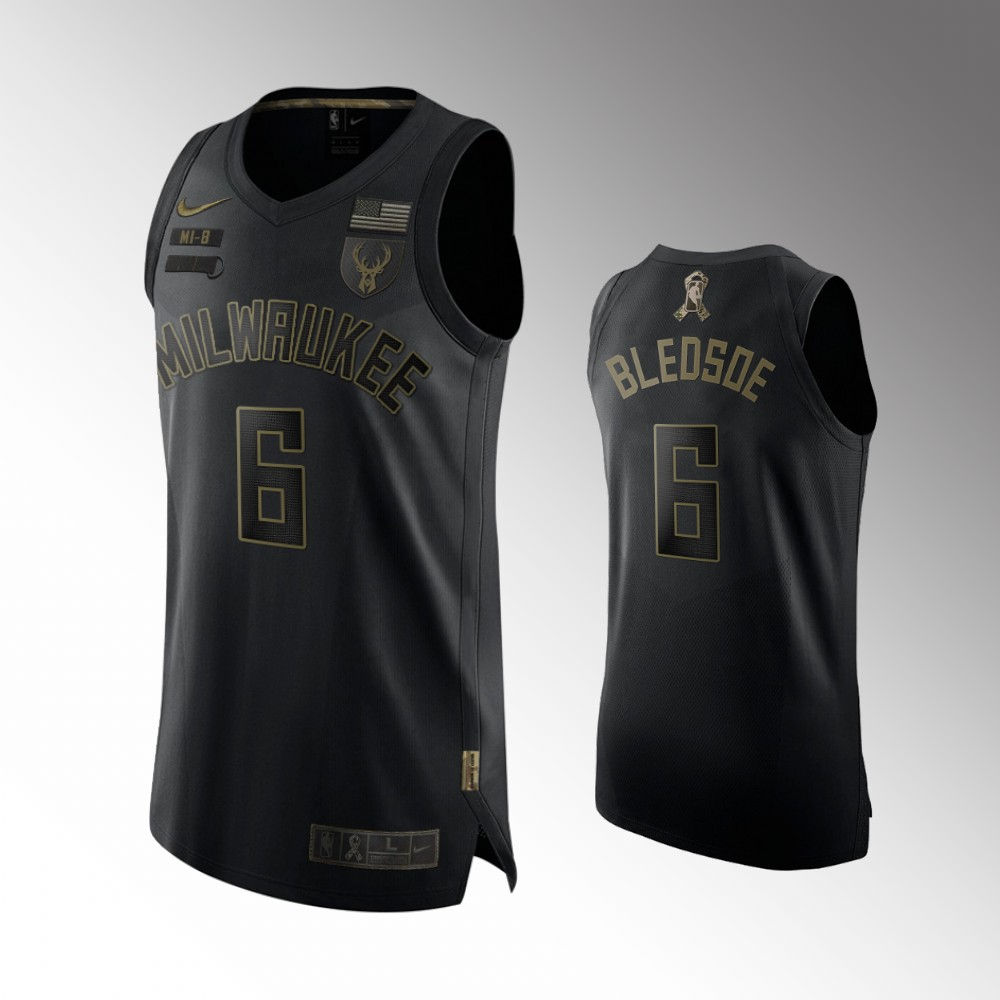 Eric Bledsoe Milwaukee Bucks Black 2020 Salute To Service Jersey