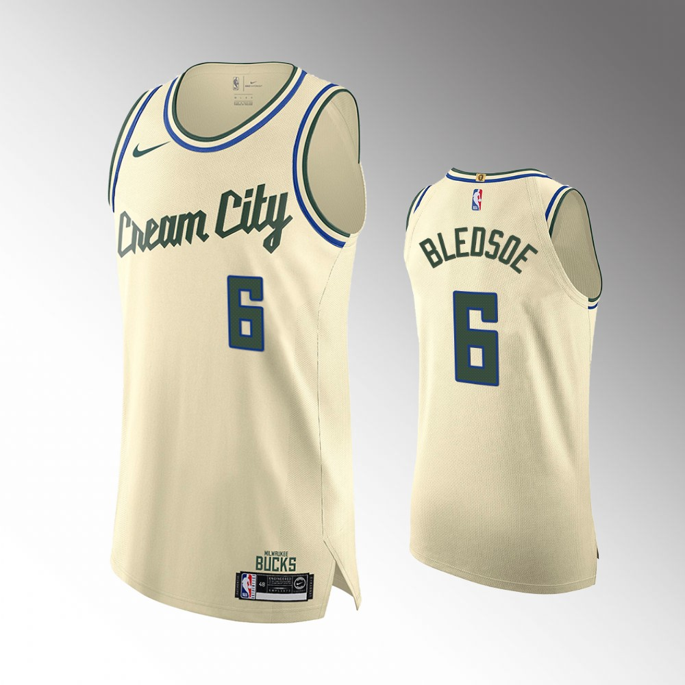 Eric Bledsoe Milwaukee Bucks Cream City Authentic Jersey