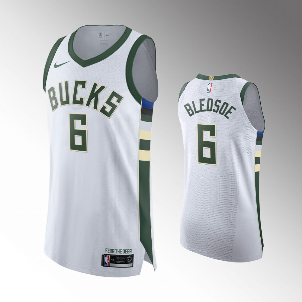 Eric Bledsoe Milwaukee Bucks White Association Authentic Jersey