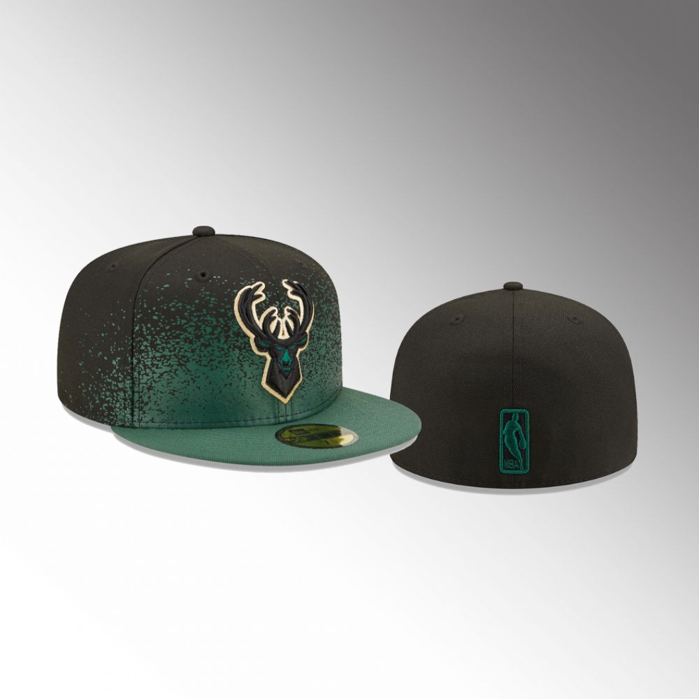 Milwaukee Bucks Hunter Green Fade Up Men's 59FIFTY Fitted Hat