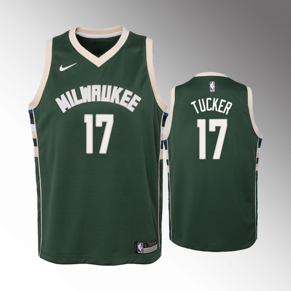 P.J. Tucker Milwaukee Bucks Green Icon Jersey