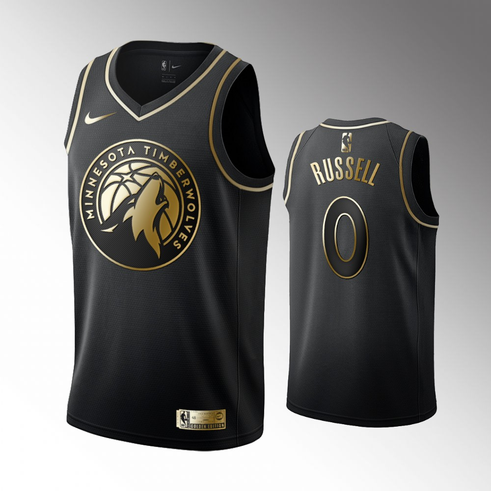 D'Angelo Russell Minnesota Timberwolves Golden Edition Jersey - Black
