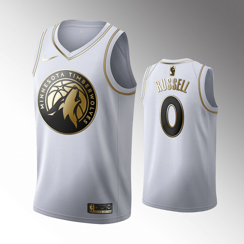 D'Angelo Russell Minnesota Timberwolves Golden Edition Jersey - White