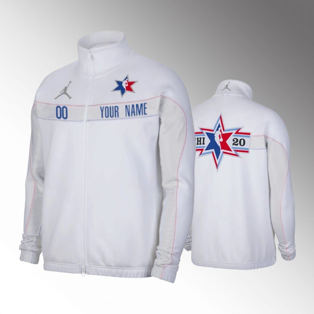 Custom 2020 NBA All-Star Game White Jacket - Full-Zip