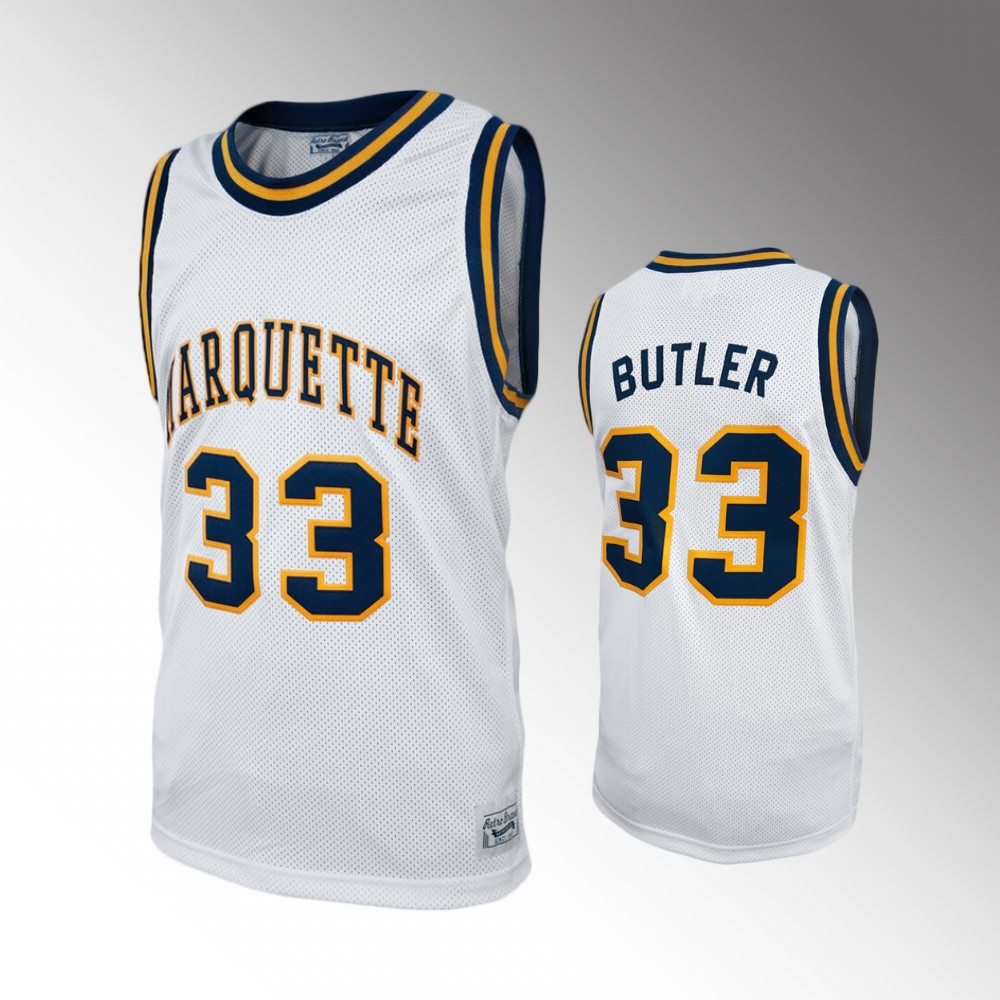NCAA Jimmy Butler Marquette Golden Eagles College Baketball Alumni White Jersey