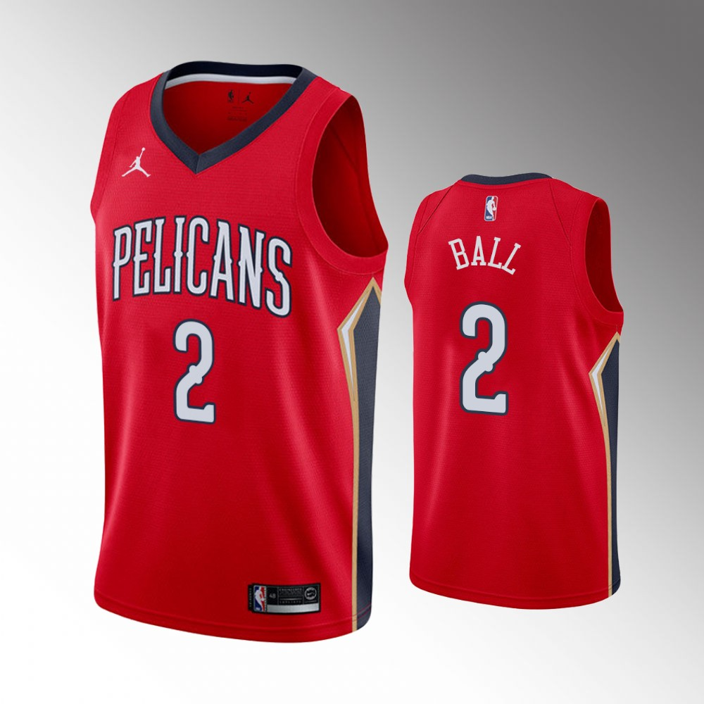 Lonzo Ball New Orleans Pelicans Red Statement Jersey