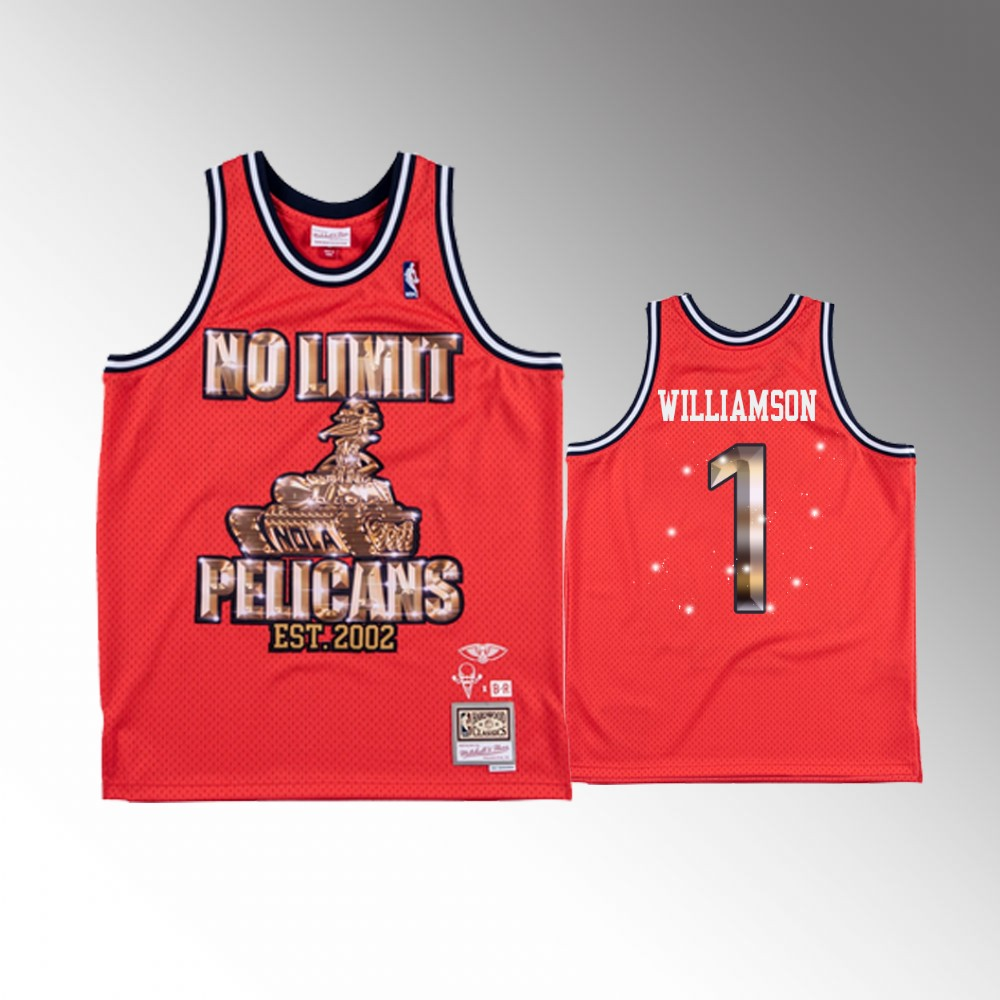 Zion Williamson New Orleans Pelicans Red No Limit X NBA Remix Jersey