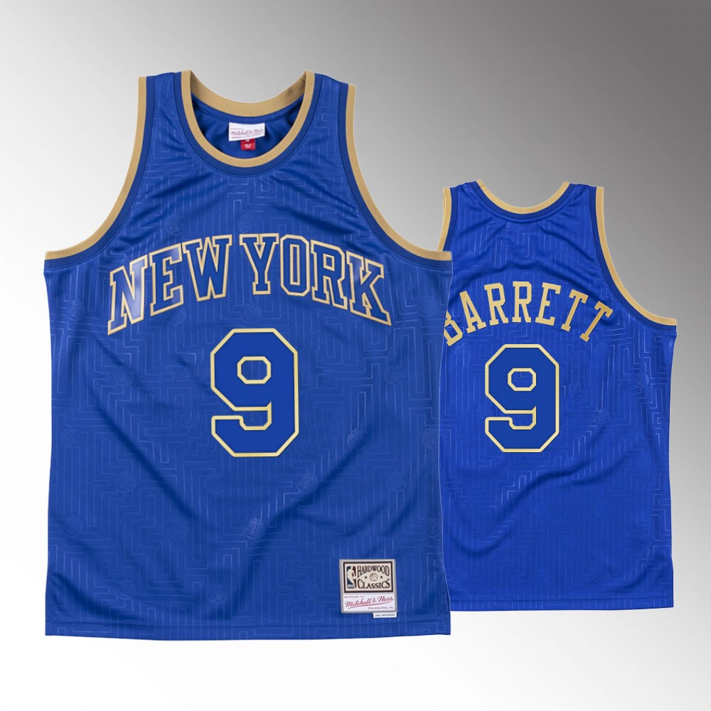 Men's New York Knicks R.J. Barrett Chinese New Year Royal Hardwood Classics Jersey