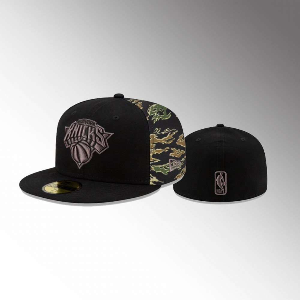 New York Knicks Black Camo Panel Men's 59FIFTY Fitted Hat
