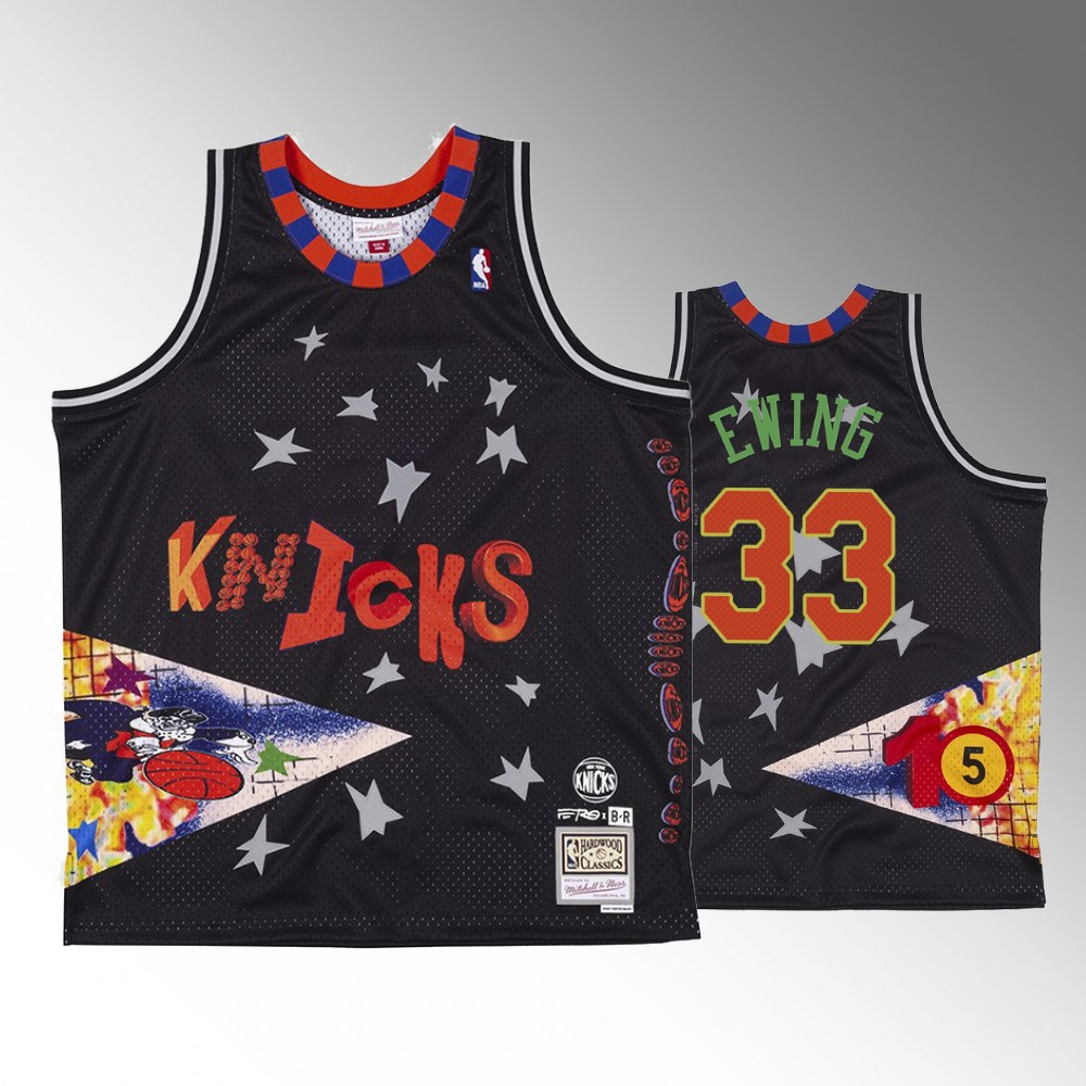 Patrick Ewing New York Knicks Black BR Remix Jersey