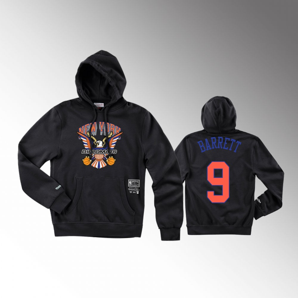 R.J. Barrett New York Knicks Black The Diplomats X BR Remix Hoodie