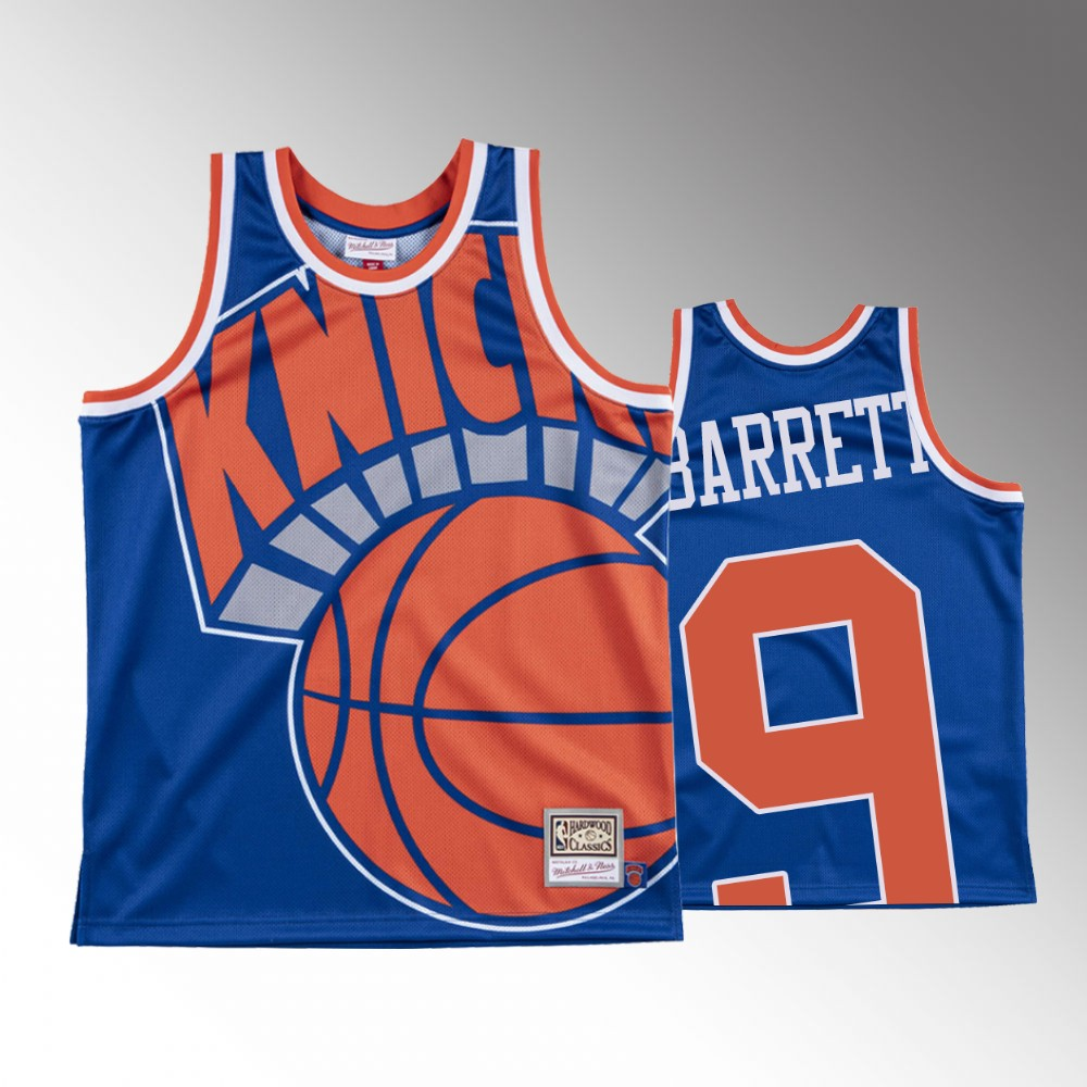 R.J. Barrett New York Knicks Blue Big Face Jersey