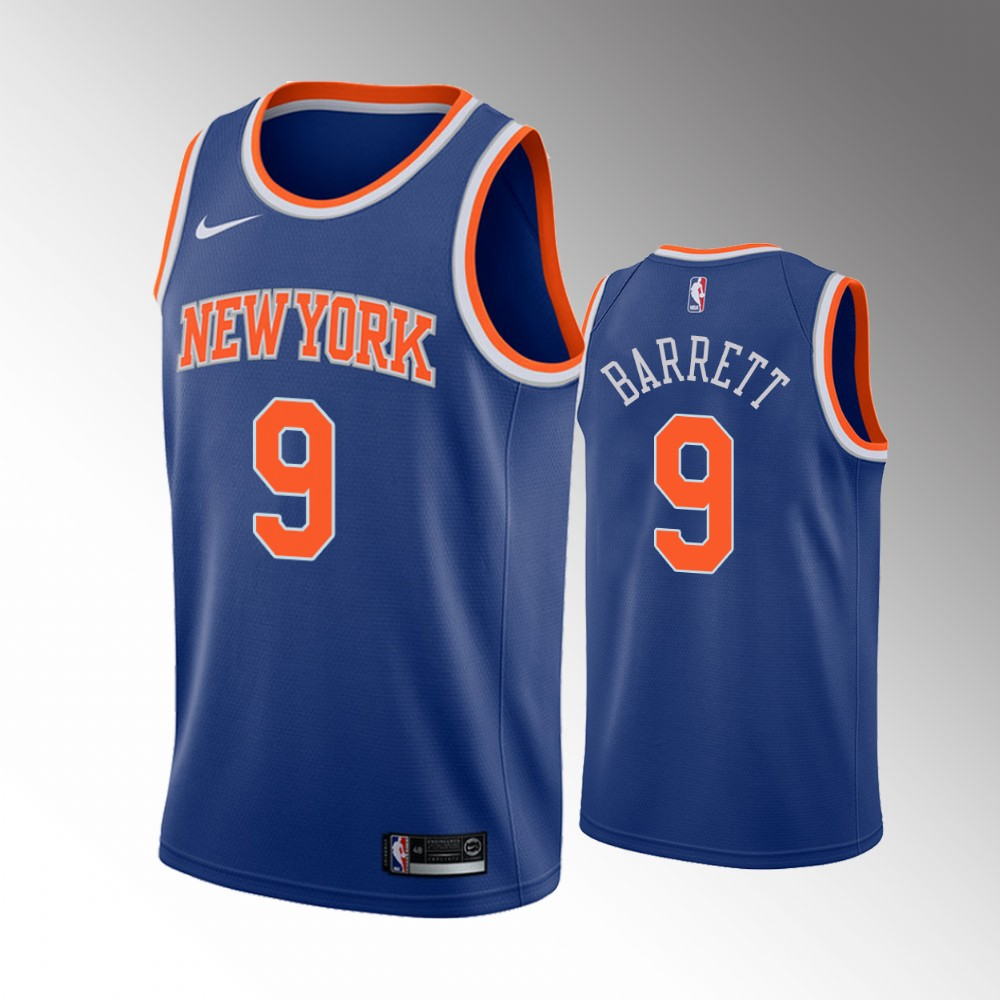 R.J. Barrett New York Knicks Blue Icon Edition Jersey