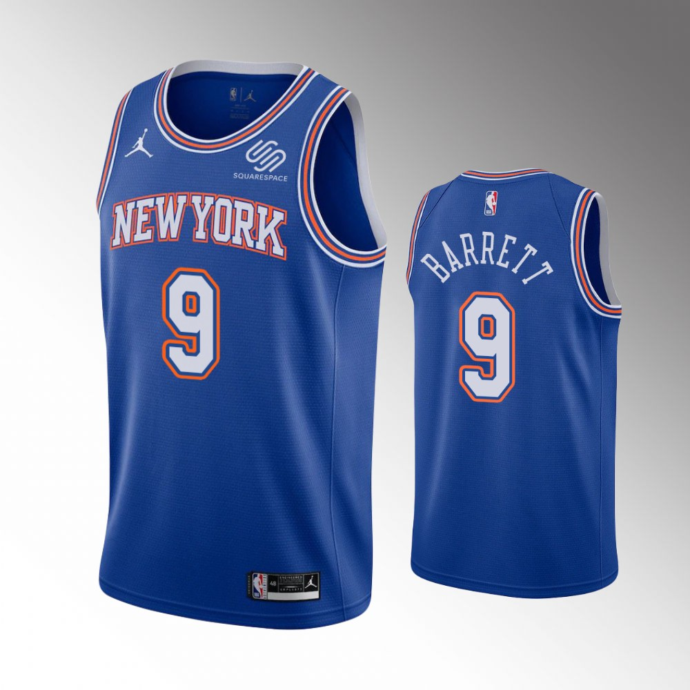 R.J. Barrett New York Knicks Blue Statement Edition Jersey