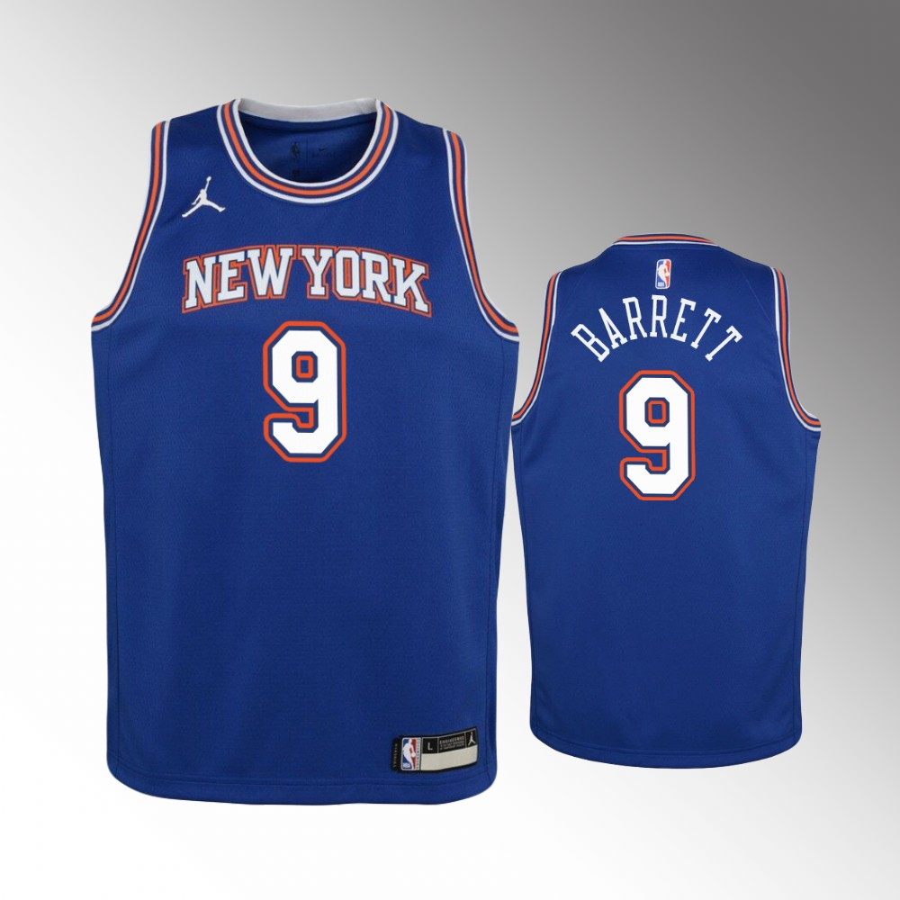 R.J. Barrett New York Knicks Blue Statement Jersey