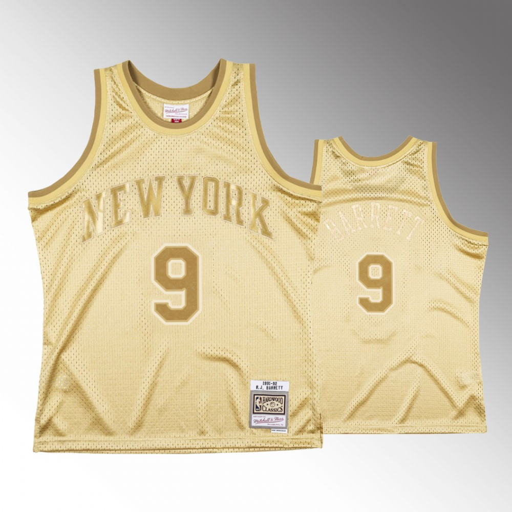 R.J. Barrett New York Knicks Gold Midas SM Jersey