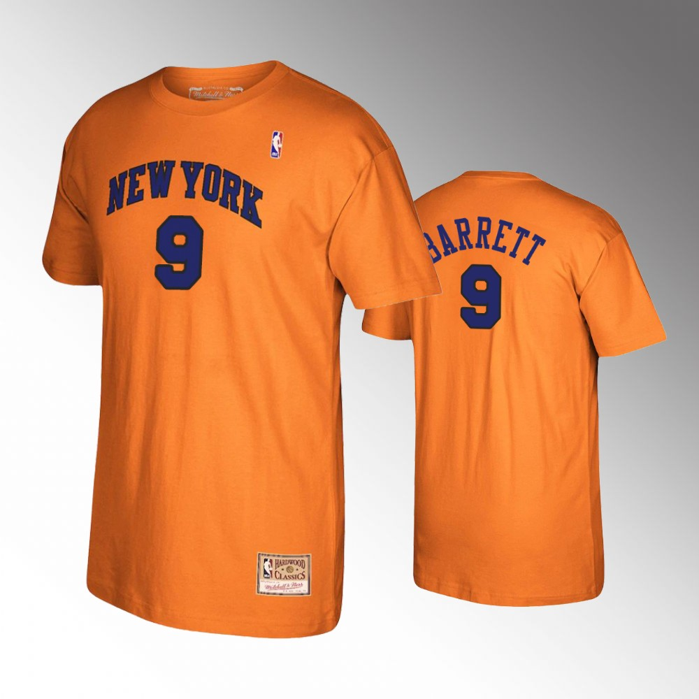 R.J. Barrett New York Knicks Reload Hardwood Classics Orange T-Shirt