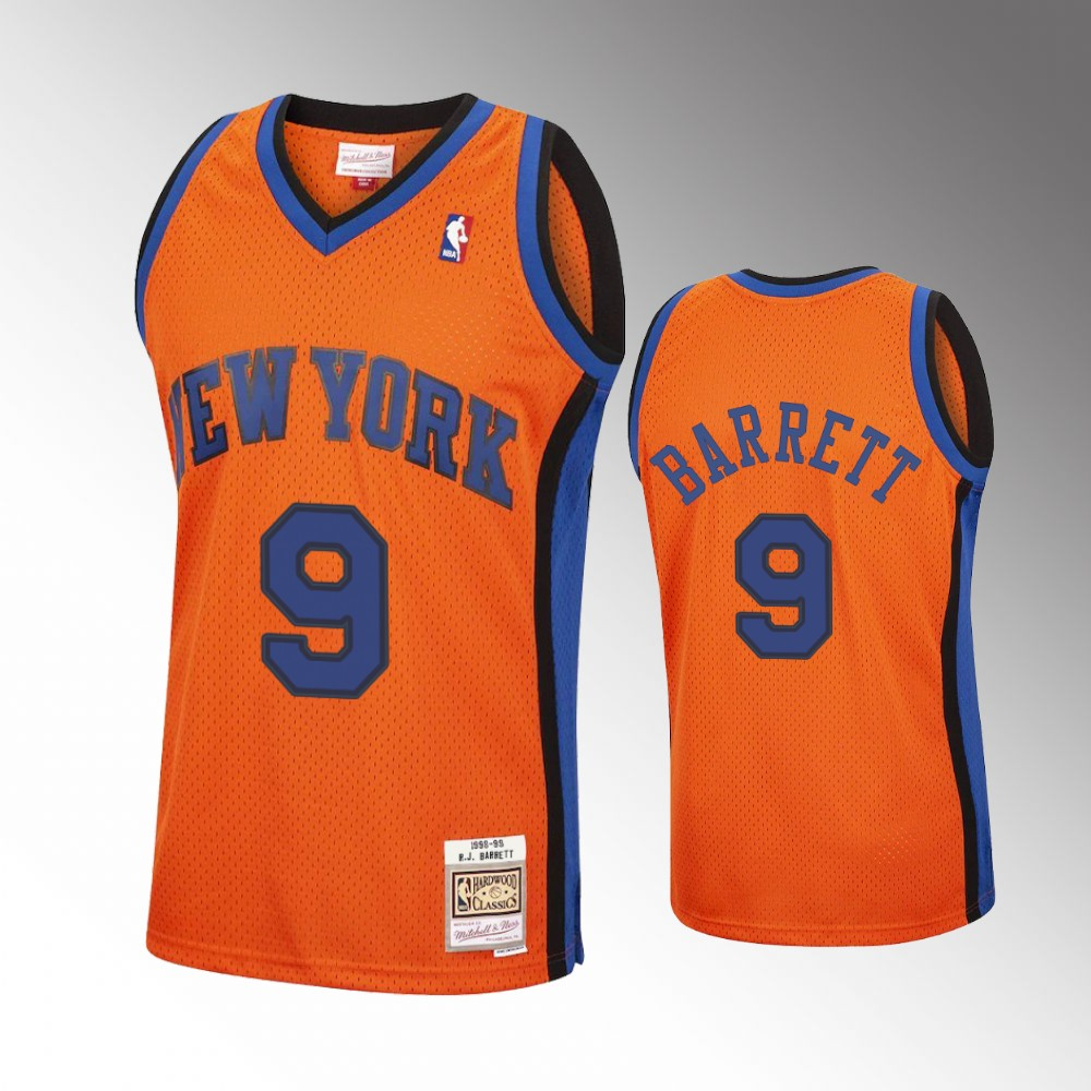R.J. Barrett New York Knicks Orange Reload Jersey