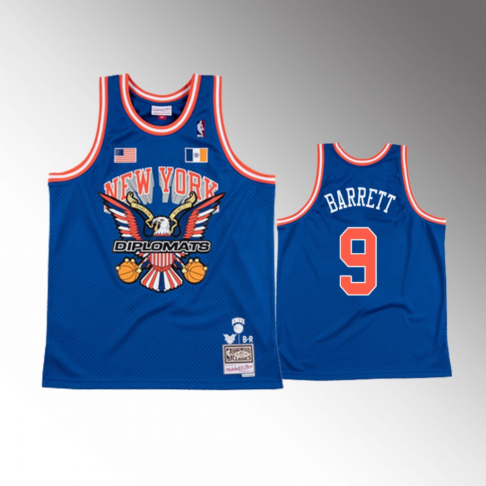 R.J. Barrett New York Knicks Royal The Diplomats X BR Remix Jersey