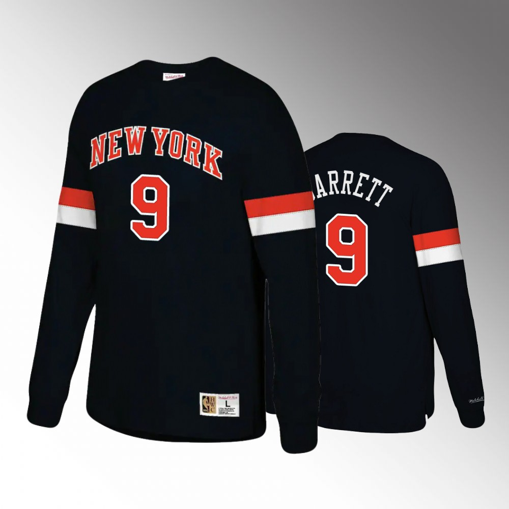 New York Knicks #9 R.J. Barrett Hardwood Classics Long Sleeve T-Shirt