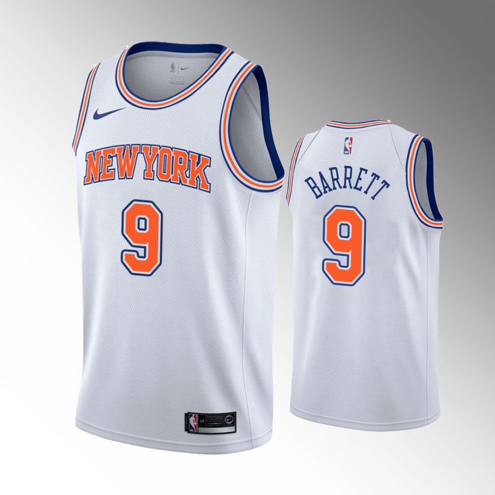 R.J. Barrett New York Knicks White Associateion Edition Jersey