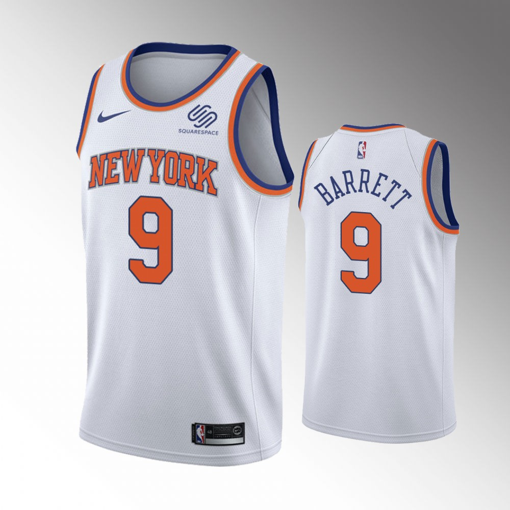 R.J. Barrett New York Knicks White Association Edition Jersey