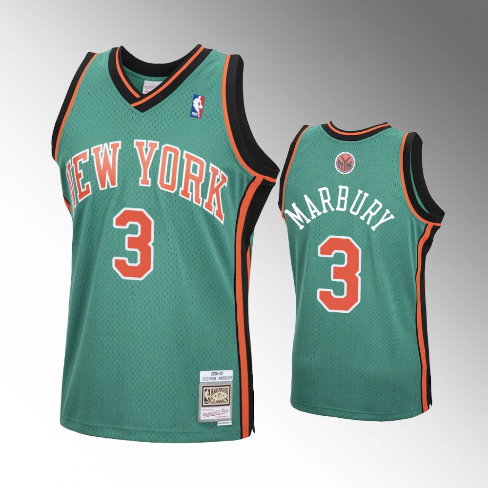 Stephon Marbury New York Knicks Green Hardwood Classics Jersey