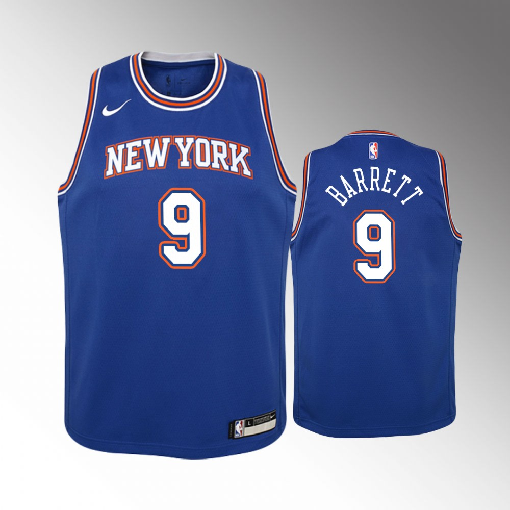 Youth New York Knicks Statement #9 Royal R.J. Barrett Jersey