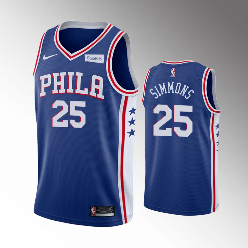 Ben Simmons Philadelphia 76ers Blue Icon Edition Jersey