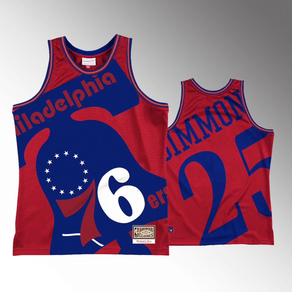 #25 Ben Simmons Philadelphia 76ers Red Blown Out Fashion Jersey