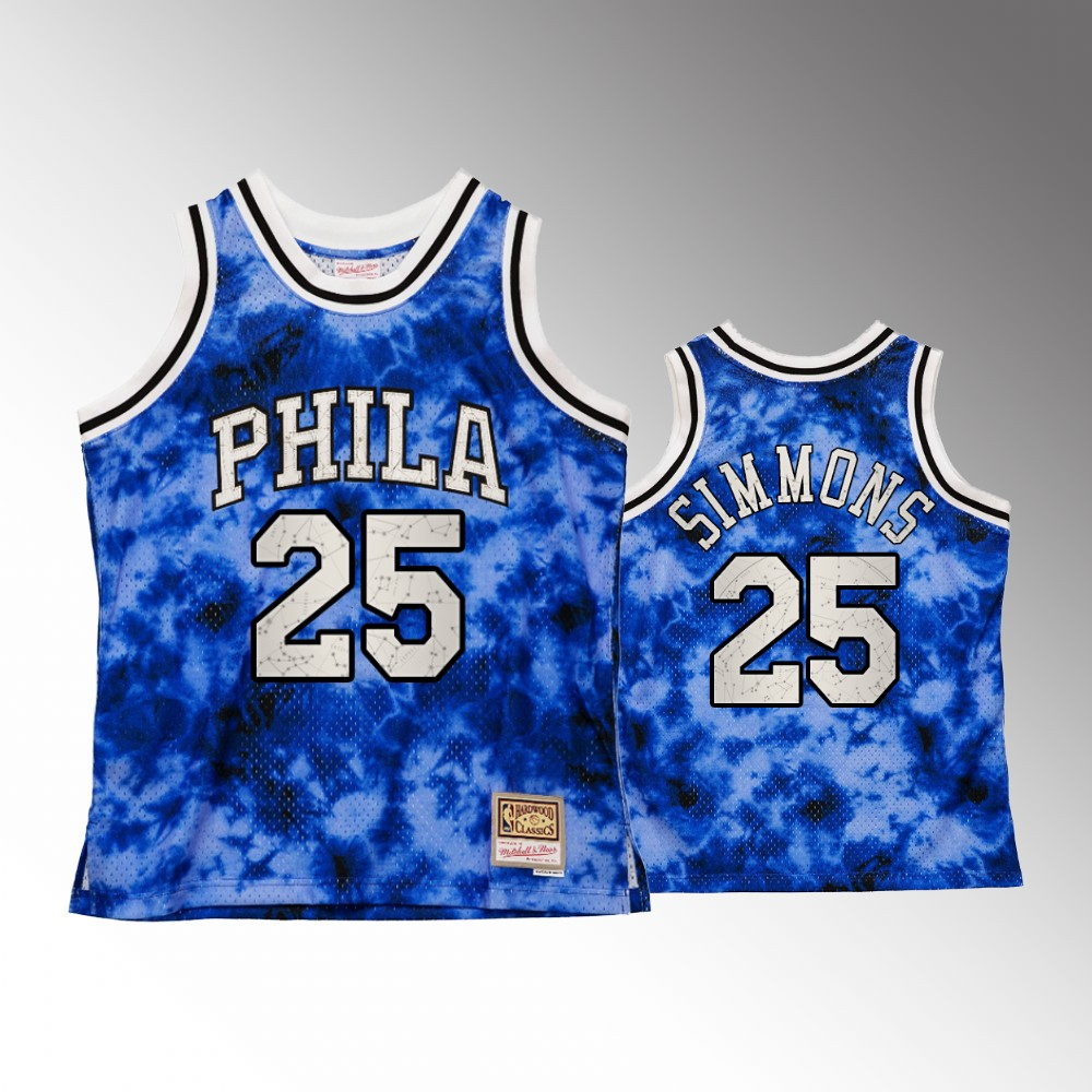 #25 Ben Simmons Philadelphia 76ers Royal Galaxy Constellation Jersey