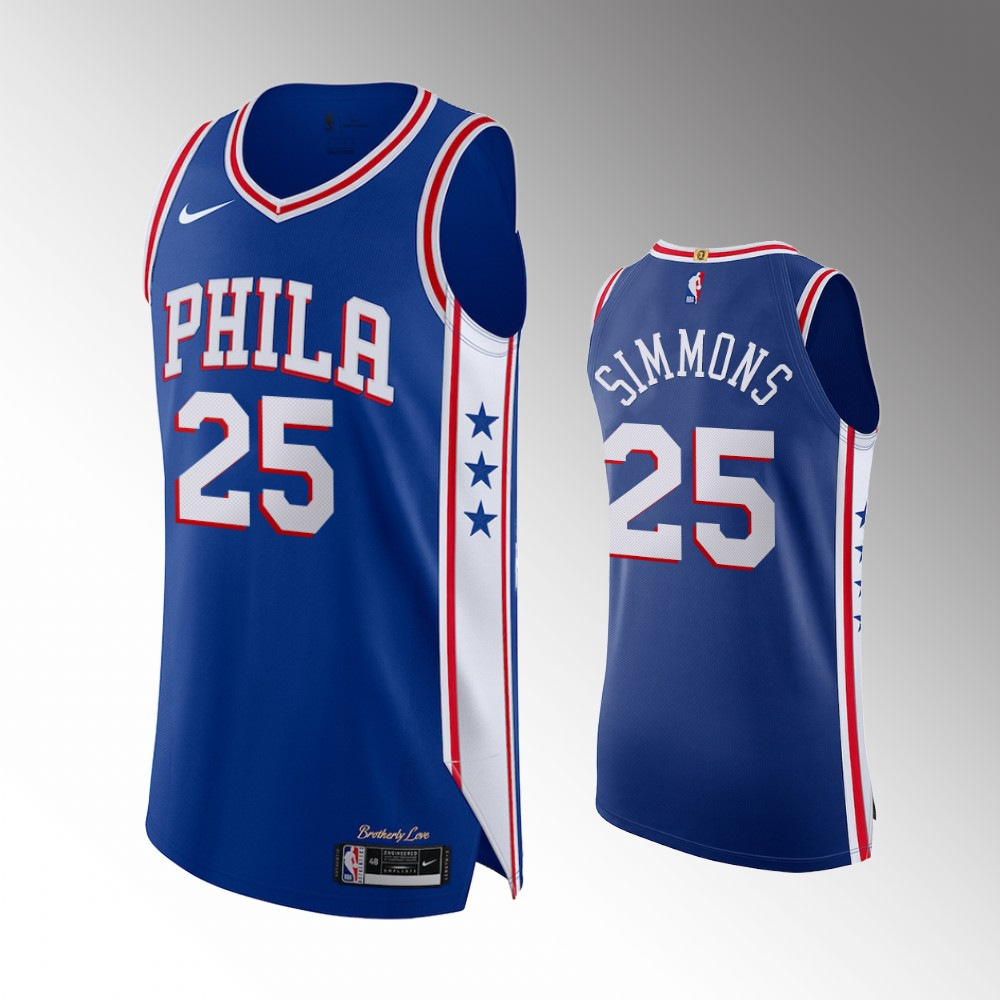Ben Simmons Philadelphia 76ers Royal Icon Authentic Jersey