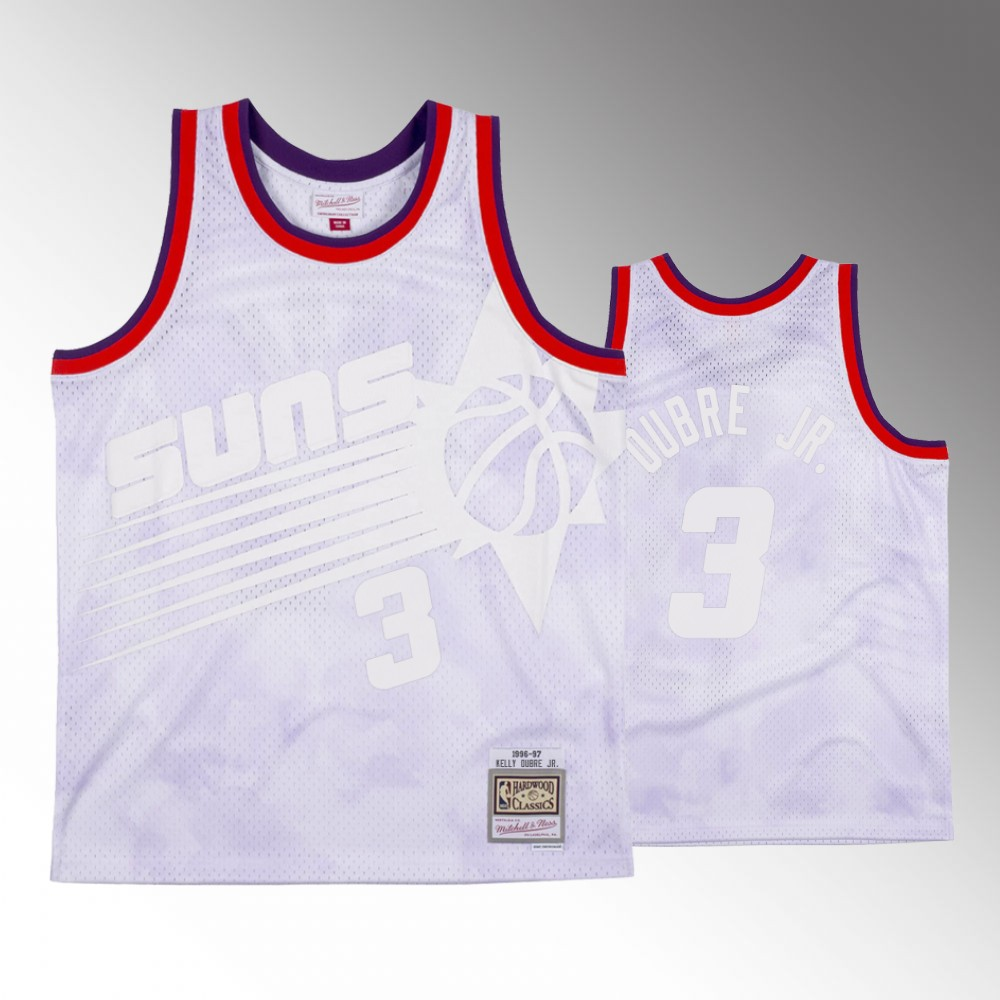Phoenix Suns White Kelly Oubre Jr. Jersey - Cloudy Skies