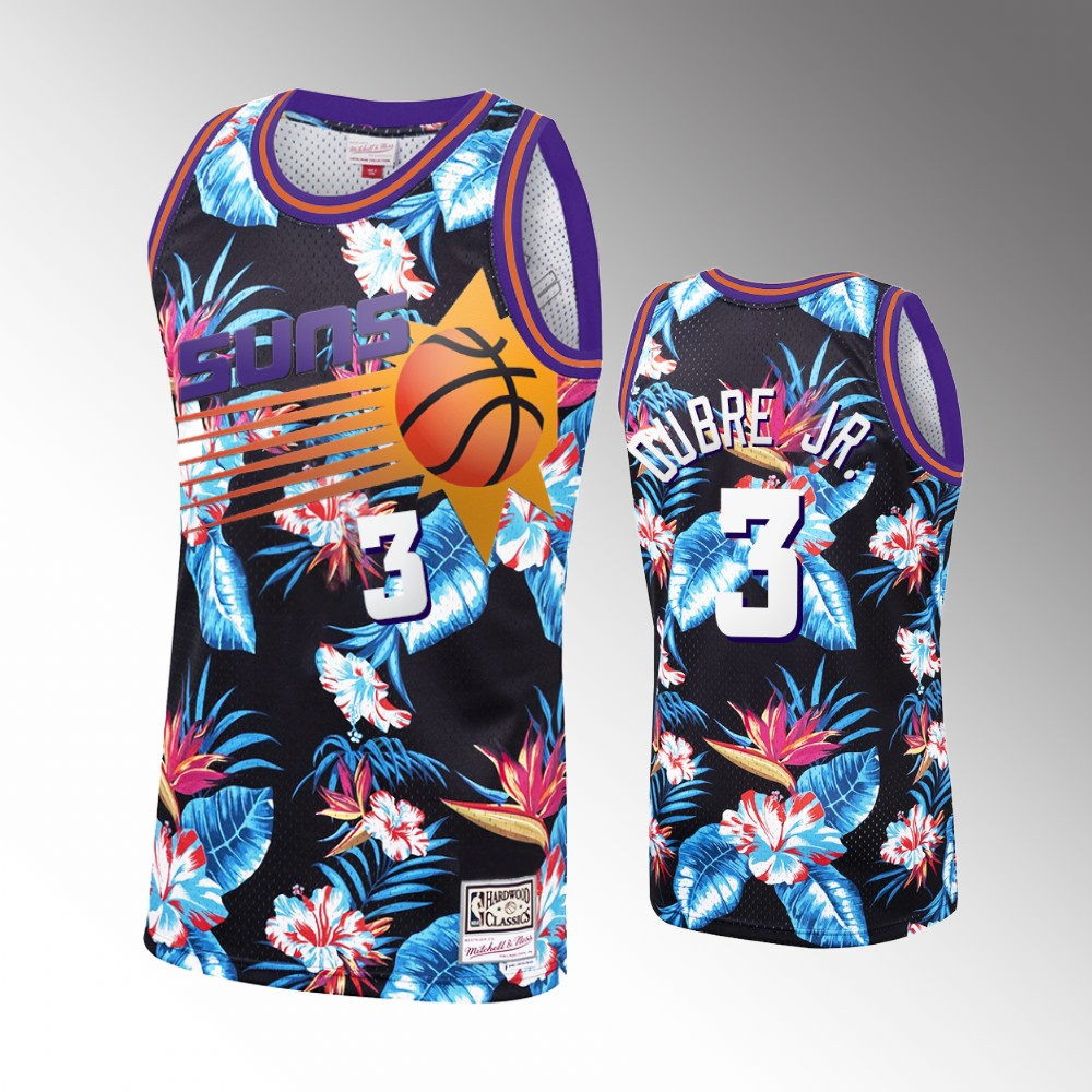 Kelly Oubre Jr. Phoenix Suns Black Floral Fashion Jersey