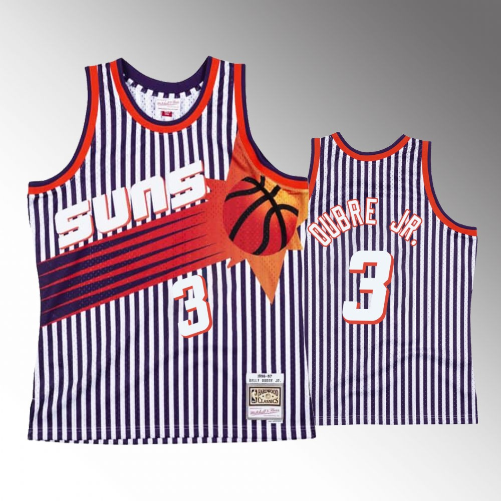 Kelly Oubre Jr. Phoenix Suns Navy Striped Jersey