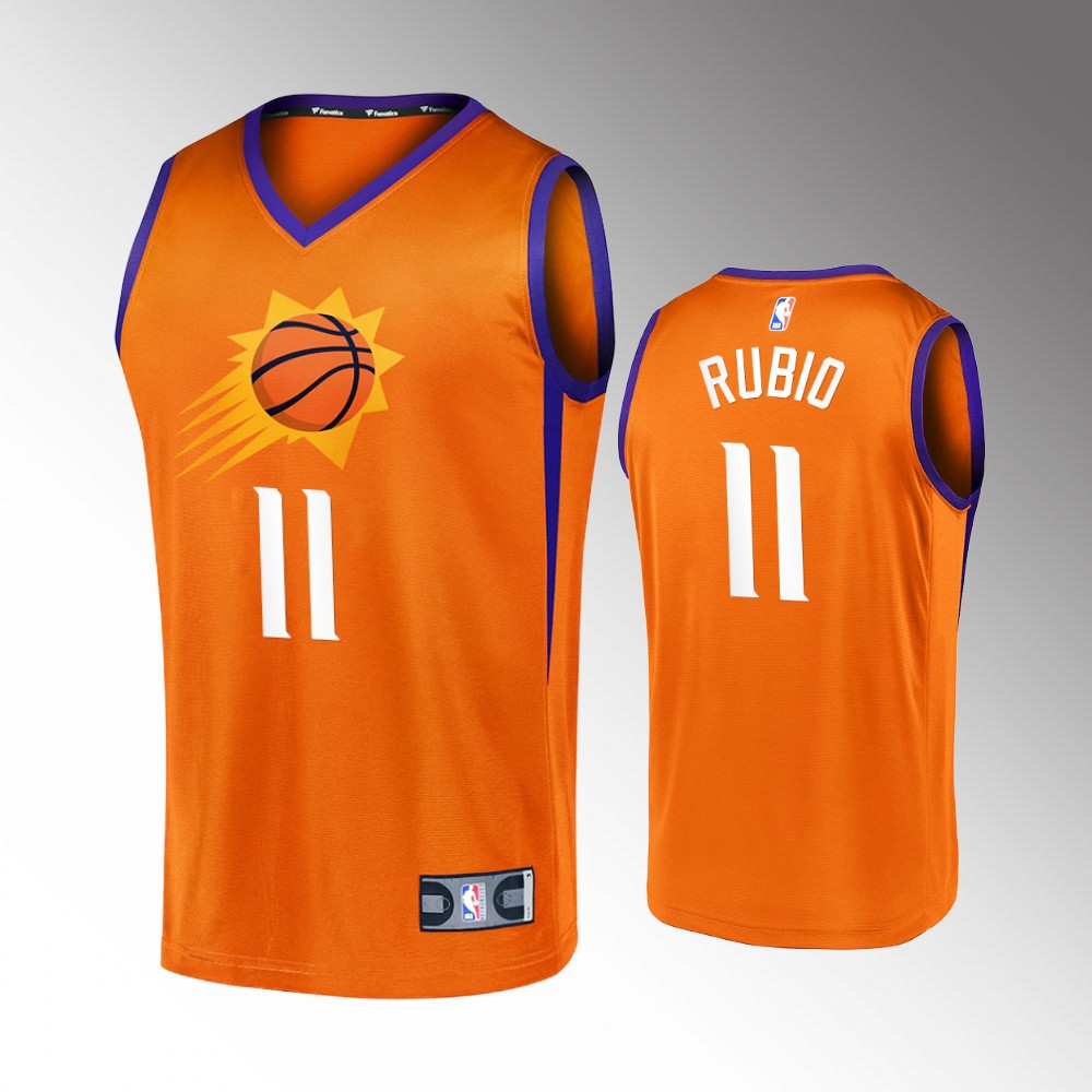 Ricky Rubio Phoenix Suns Orange Replica Jersey