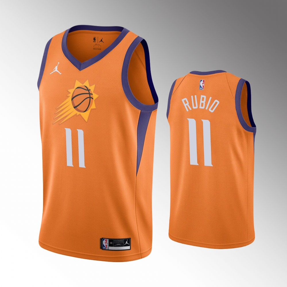 Ricky Rubio Phoenix Suns Orange Statement Jersey