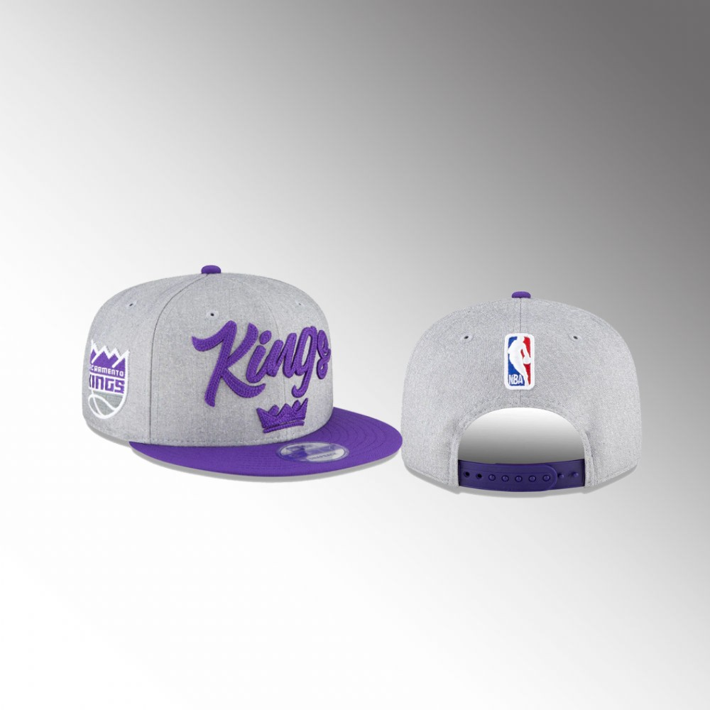 Sacramento Kings Heather Gray 2020 NBA Draft Men's Official On-Stage 9FIFTY Snapback Adjustable Hat