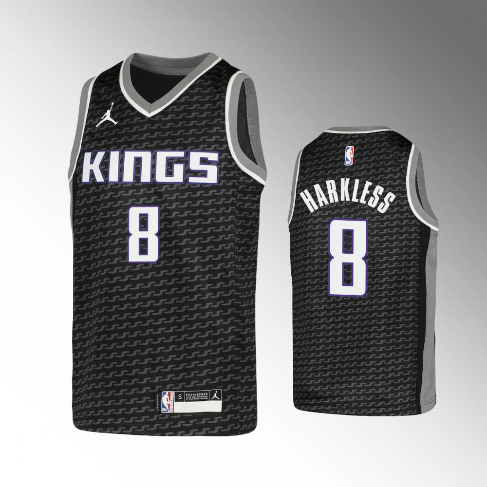 Maurice Harkless Sacramento Kings Black Statement Edition Jersey