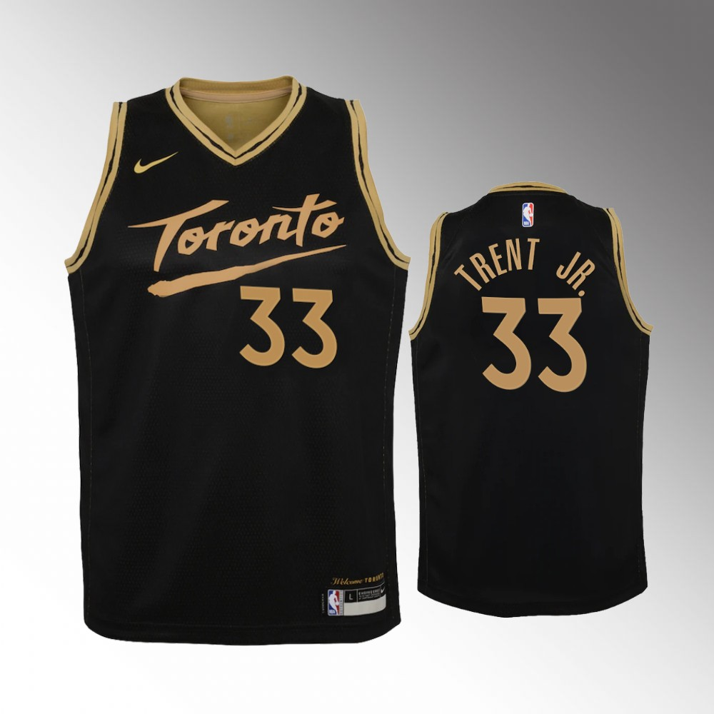 Gary Trent Jr. Toronto Raptors Black City Edition Jersey