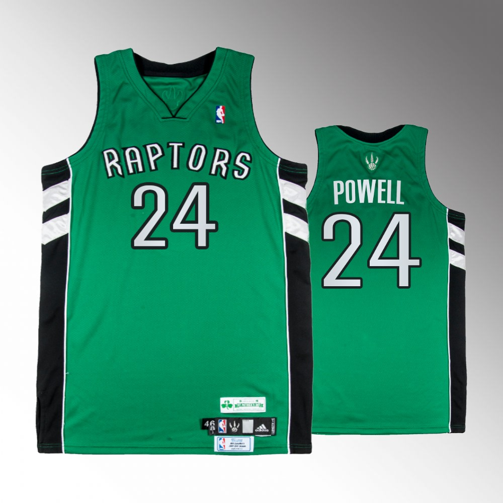Norman Powell Toronto Raptors Green St. Patricks Day Jersey