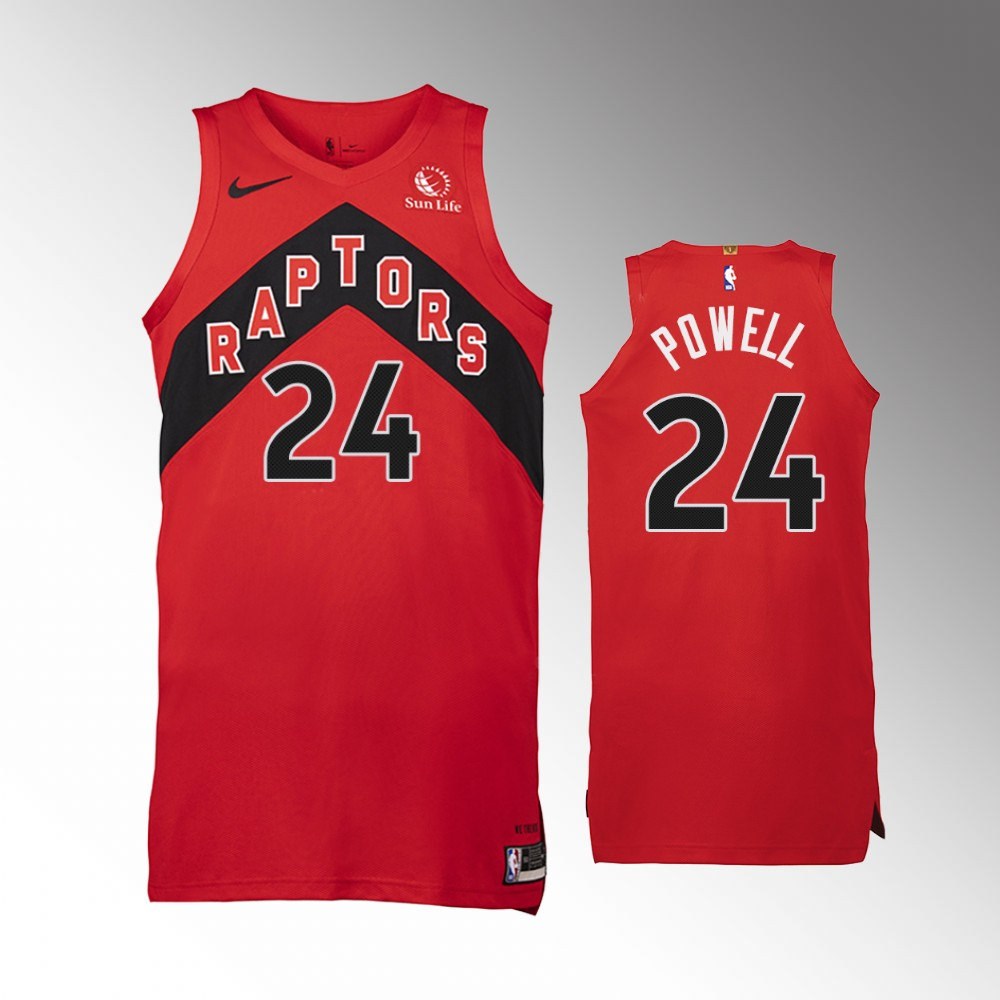 Norman Powell Toronto Raptors Red Icon Authentic Jersey