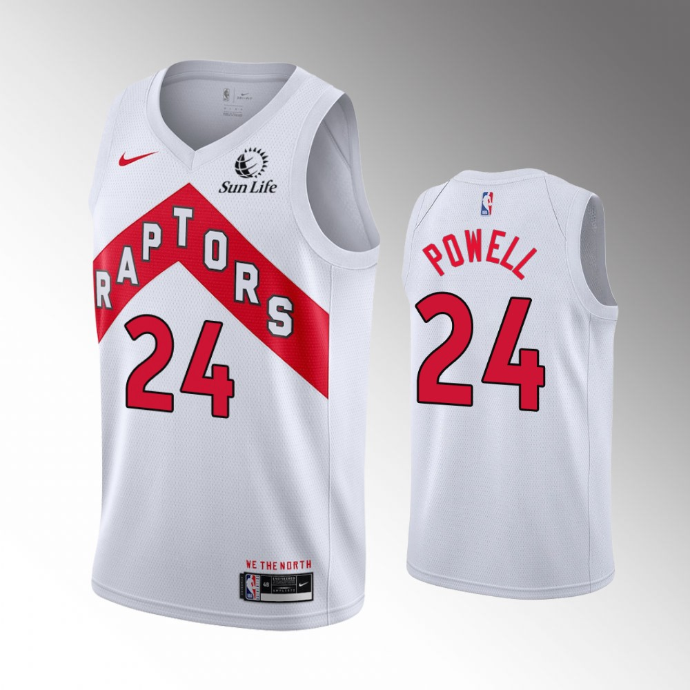 Norman Powell Toronto Raptors White Association Edition Jersey