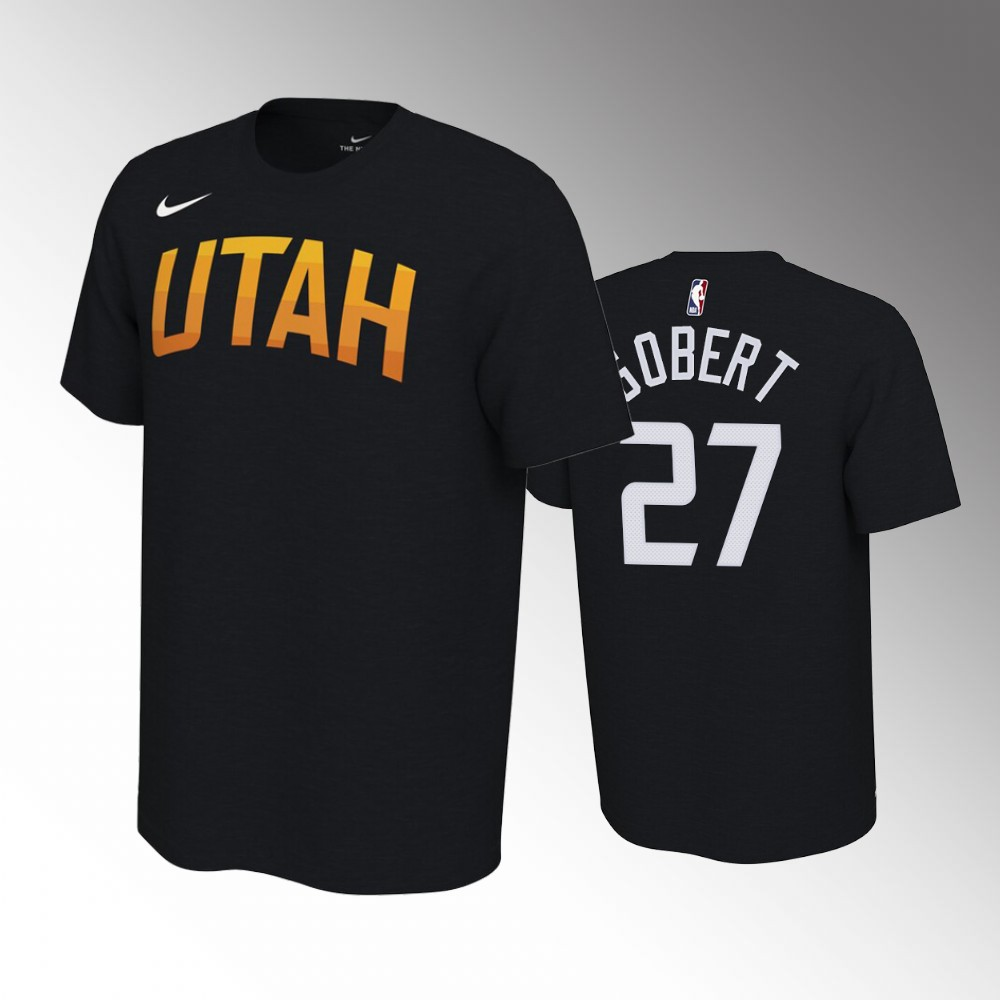 Rudy Gobert Utah Jazz Black T-Shirt - Earned Edition