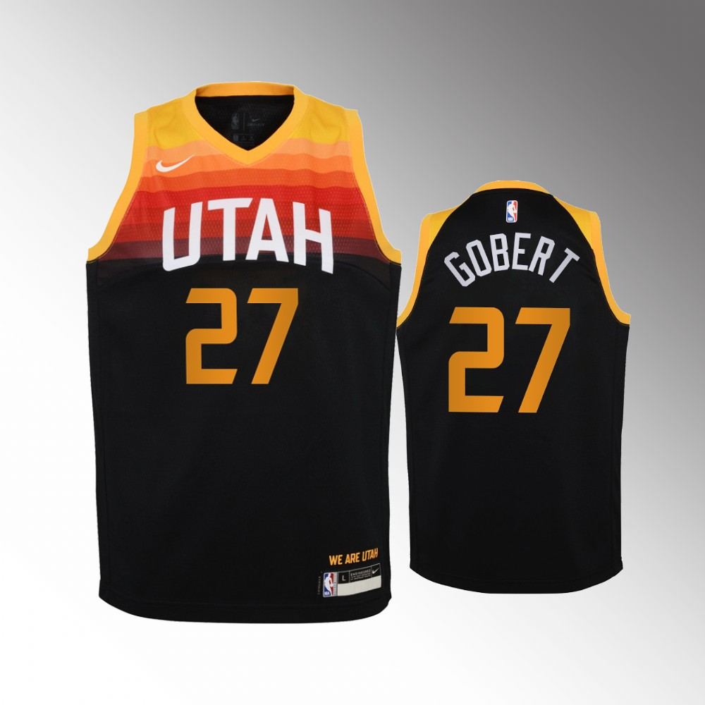 Rudy Gobert Utah Jazz Black City Jersey