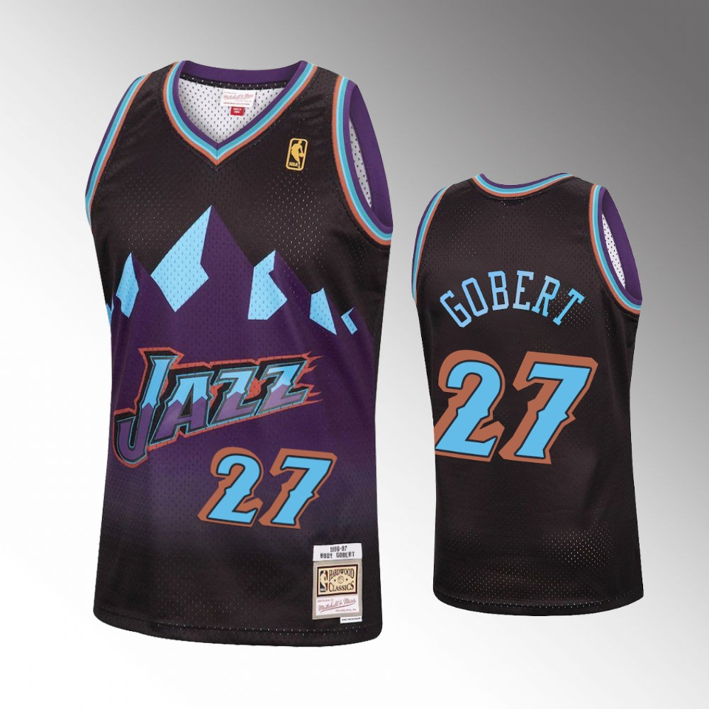 Rudy Gobert Utah Jazz Black Reload Jersey