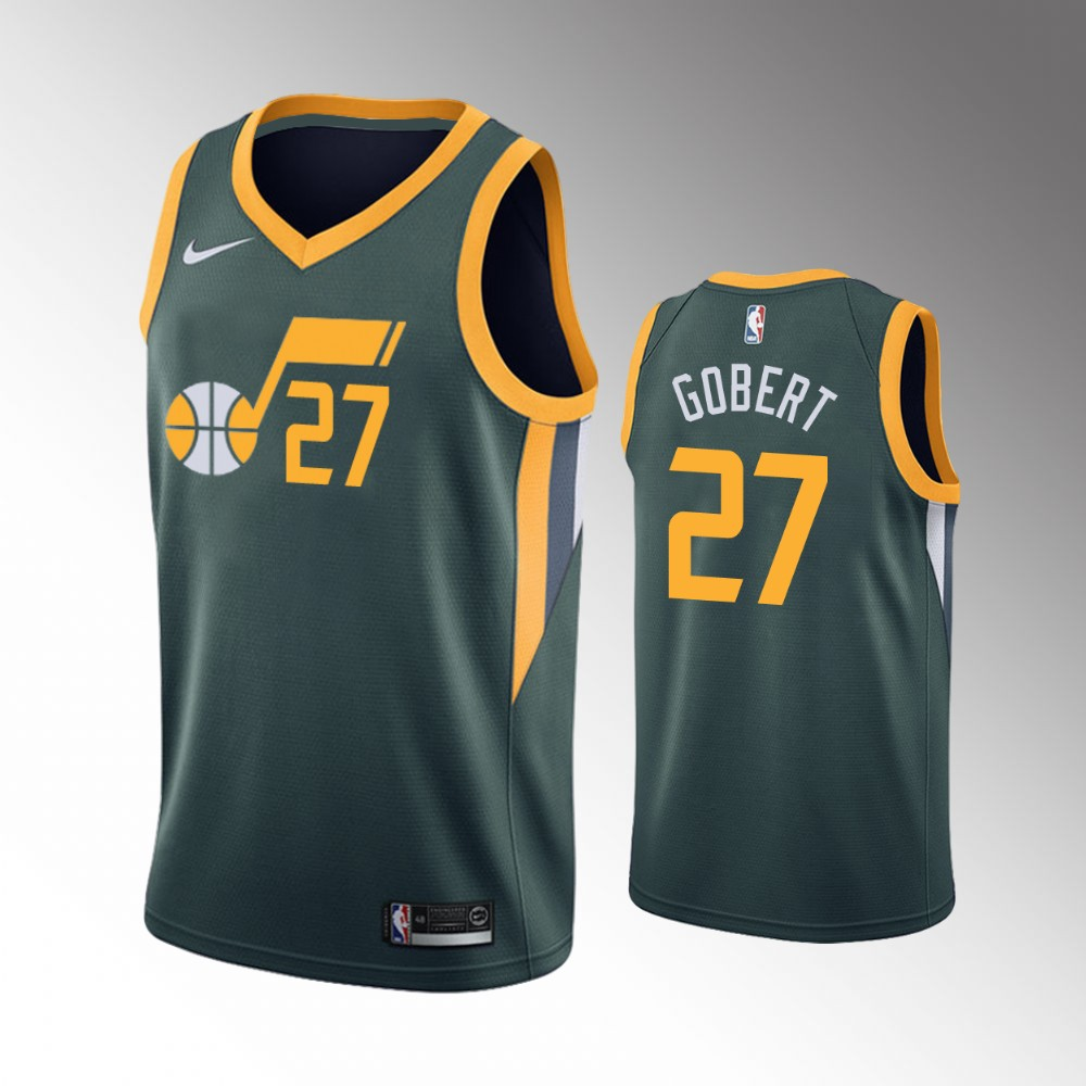 Rudy Gobert Utah Jazz Green Earned Edition Jersey