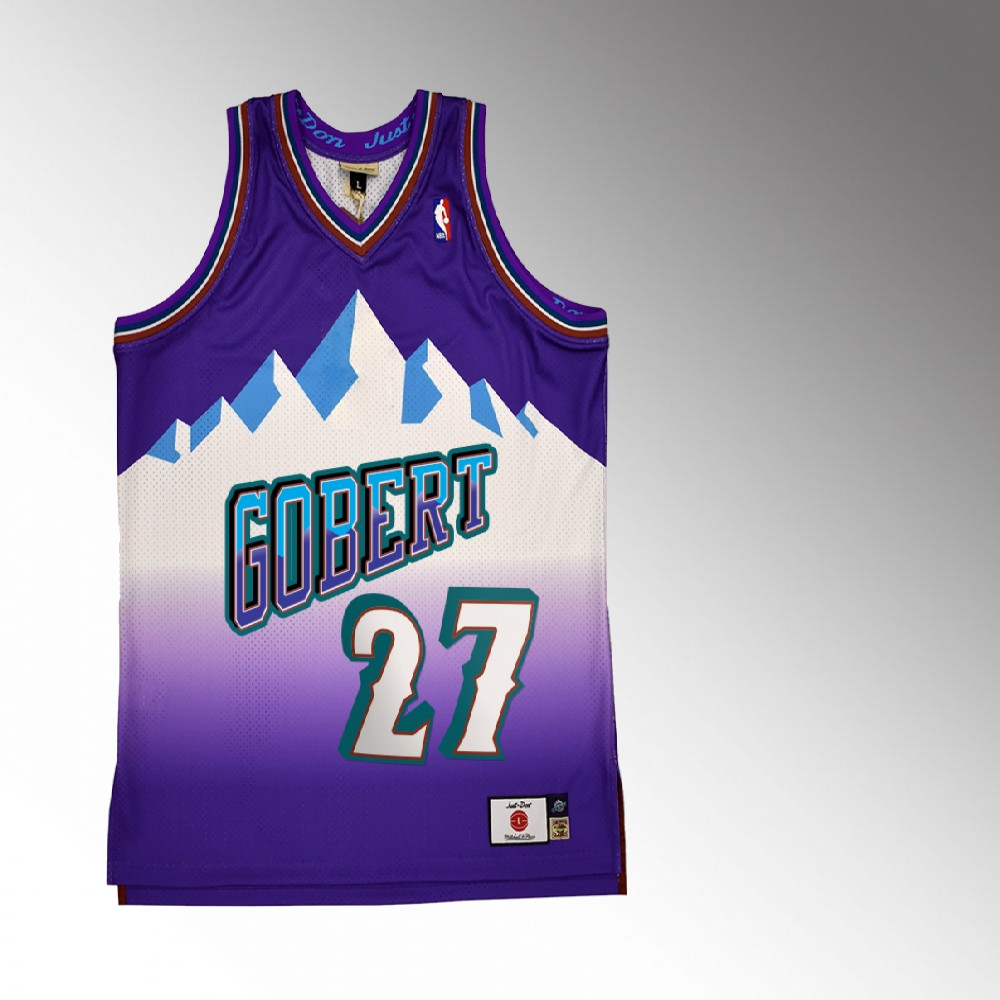 Rudy Gobert Utah Jazz Purple Just Don X Mitchell Ness Jersey