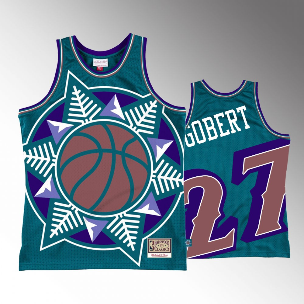 Rudy Gobert Utah Jazz Teal Big Face 2.0 Jersey