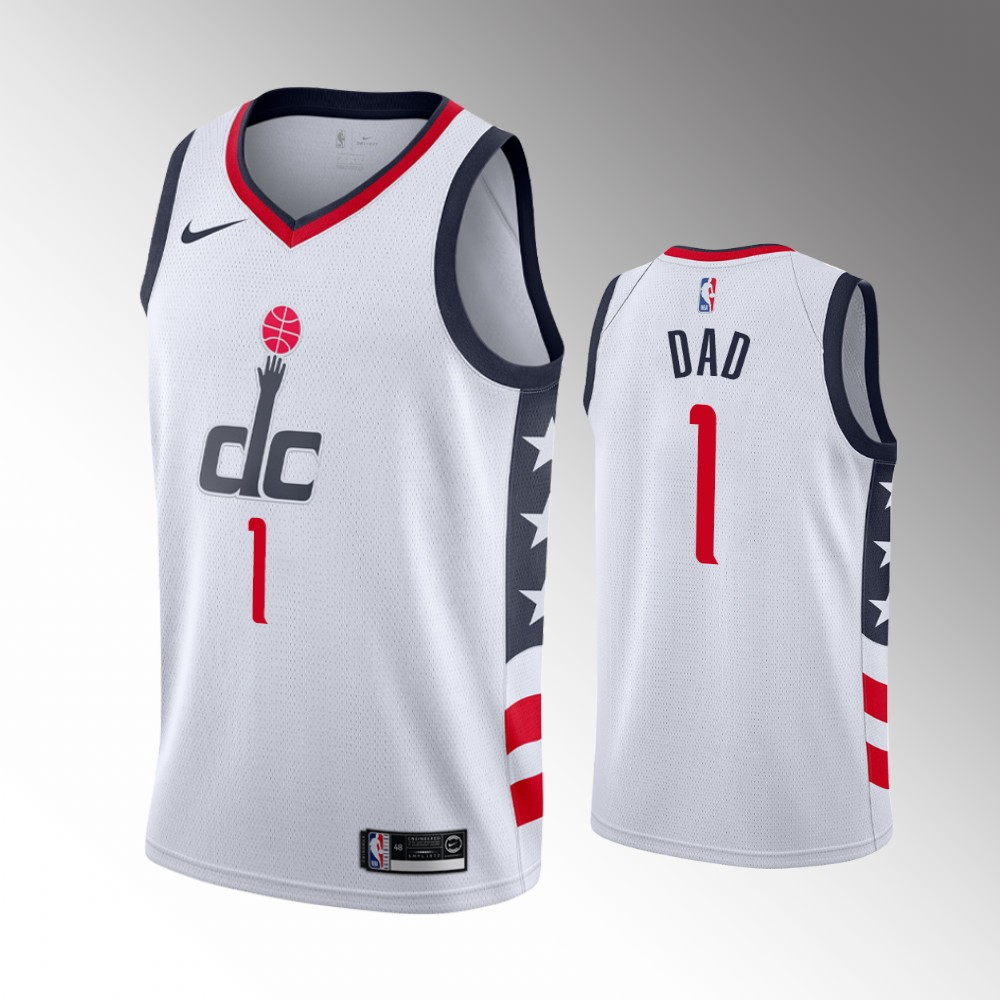 Washington Wizards White 2021 Fathers Day Jersey